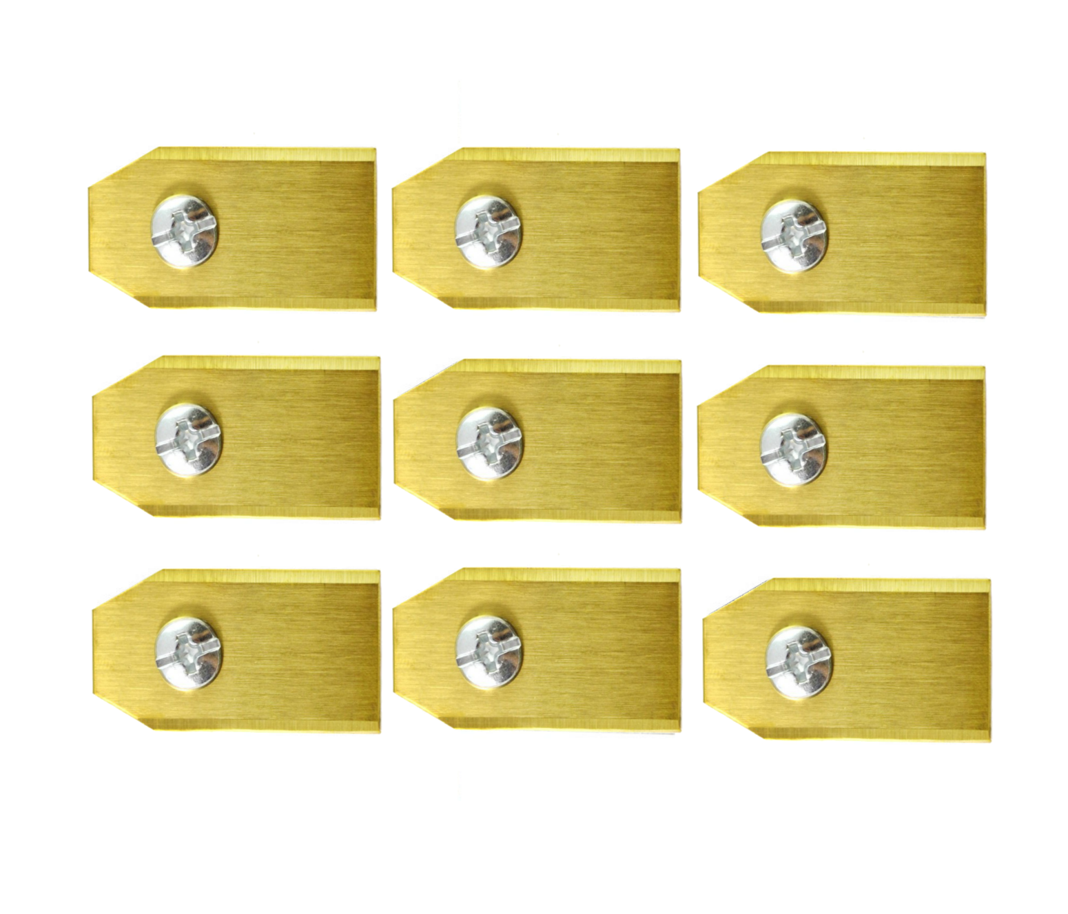 set de 9 lames en titane pour robot tondeuse florabest